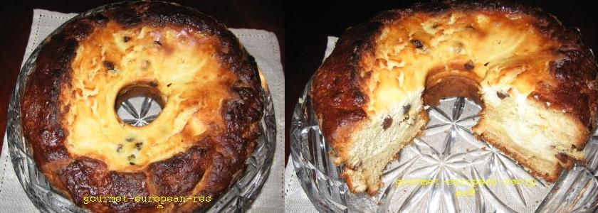 Pasca - Romanian sweet cheese panettone